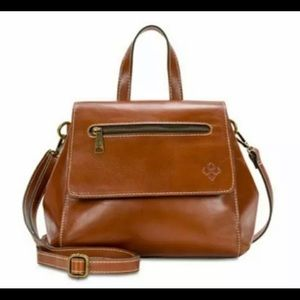 Patricia Nash Tan Whiskey Leather Flap Front Flap